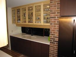 Backsplash Ideas White Cabinets Brown Countertop by Antique White Cabinets With Subway Tile Backsplash On Kitchen
