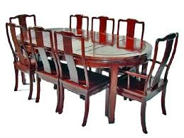 Oval Dining Table For 8 With Chairs Plain Mandarin Design Seater