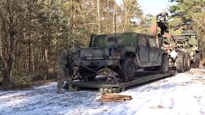 Humvee Jeep Being Loaded Onto Trailer Of Oshkosh Truck Stock Video ... Okosh Truck Unloading Humvee Jeep From Hydraulic Trailer Stock Kosh Striker 4500 Airport 3d Model 360 View Of Fmtv M1087 A1p2 Expansible Van Truck 2016 3d Laden With Being Driven Though Woodland Hydraulic Lowered On Video Footage Photos Images Page 3 Alamy A98 3200g969 Fda238 Front Drive Steer Axle Tpi Trucks Google Search Pinterest Military American Simulator Defense Hemtt Midland Tw3500 B