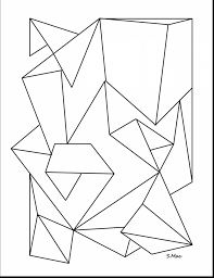 Outstanding Geometric Abstract Coloring Pages With For Adults And Free Colouring