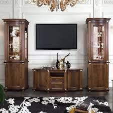 valencia wohnzimmermöbel massivholz wohnwand tabakfarbe