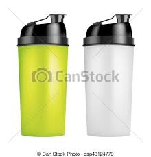 Protein Shaker Design Template Two Colors Sport Bottles Bottle For Gym Bodybuilding Vector