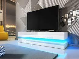 details zu tv lowboard sank stilvoll modern tv schrank mit beleuchtung wohnzimmer rtv m24