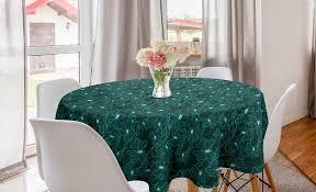 abakuhaus tischdecke kreis tischdecke abdeckung für esszimmer küche dekoration türkis barock inspired laub kaufen otto