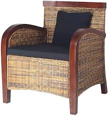 vidaxl rattansessel rattan wohnzimmer relaxsessel loungesessel geflechtsessel