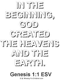Bible Verse Coloring Page About Creation Genesis 11