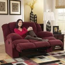 Oversized microfiber recliner because we all know Andre would