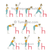 Sun Salutation Variation Standing In Front Of Chair