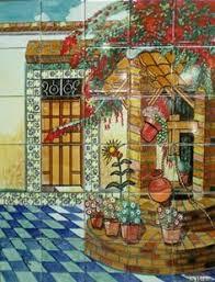 outdoor mexican tile murals tile mural sku 88054 price 169 00