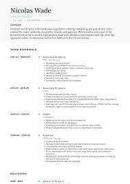 Associate Producer - Resume Samples And Templates | VisualCV Freetouse Online Resume Builder By Livecareer Awesome Live Careers Atclgrain Sample Caregiver Lcazuelasphilly Unique Livecareer Cover Letter Nanny Writing Guide 12 Mplate Samples Pdf View 30 Samples Of Rumes Industry Experience Level Test Analyst And Templates Visualcv Examples Real People Stagehand New One Page Leave Latter Music Cormac Bluestone Dear Sam Nolan Branding