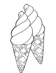 Two Cup Ice Cream Coloring Pages