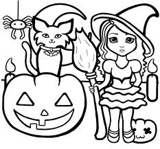 Halloween Coloring Pages For Preschoolers Cat