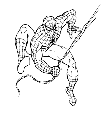 Mini Superhero Coloring Books Spiderman Logo Pages
