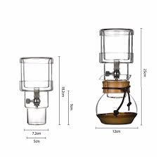 400Ml Cold Brew Water Ice Drip Coffee Maker Filters Home Kitchen Glass For 2 Cups New