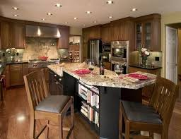Black And White Kitchen Design L Shaped Counter Square Undermount Sink Islands With Seating Wooden Floor