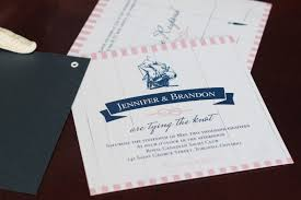 Tying The Knot Nautical Wedding Invitation Booklet