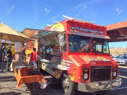 PHOENIX, AZ - FEBRUARY 5, 2016: Lunch Goes Buying And Waiting ... Go For The Food Food Trucks Hit Phoenix Fox News Froth Coffee And Tap Truck Electric Sliders Home West Man Making Dreams Come True With Truck Designs Catering Alternative Frenzy Modern Vintage Events Catches Fire In The Gorilla Cheese Trucks Roaming Hunger Scottsdale Street Eats Festival Friday 28 September Rounders Ice Cream Sandwiches Friday Fanatic Lady Las Mahalo Made Announces New Lociondates For Next Stop