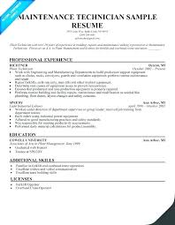 Sample Supervisor Resume Example For Maintenance Examples Salesperson Mechanical On Template Medical Front Office