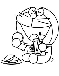 Doraemon Having Lunch Coloring Pages