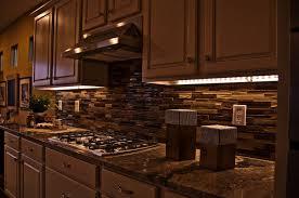 countertops backsplash rustic kitchen area string puck led