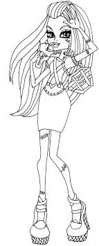 Monster High Frankie Stein Coloring Pages 16 1208 Best Images About On Pinterest