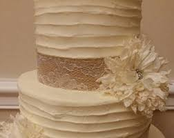 Rustic Fake Wedding Cake