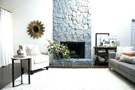 Colors To Paint A Fireplace Painted Stone Fireplaces Before And