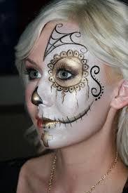 Halloween Half Mask Makeup by Best 25 Half Skull Face Paint Ideas On Pinterest Half Skull