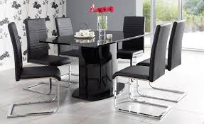 Black Kitchen Table Decorating Ideas by Kitchen Charming Dining Room Decoration Using Glass Dining Table