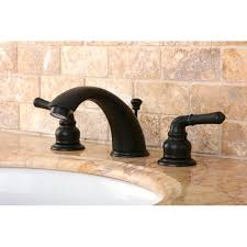 Overstock Bronze Kitchen Faucets by Oil Rubbed Dark Bronze Widespread Bathroom Faucet Free Shipping