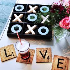 five minute friday s scrabble tile coasters blue i style