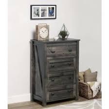 Image Is Loading Farmhouse Barn Door Style 4 Drawer Dresser Chest
