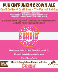 Dunkin Pumpkin Spice by Dunkin U0027 Donuts First Beer Is Here 107 9 The Link