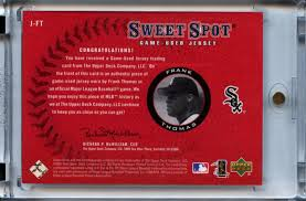 The Upper Deck Company Llc Linkedin by Lot Detail 2001 Upper Deck Sweet Spot Game Used Jersey J Ft