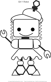 Pictures Gallery Of Robot Coloring Page Terrific