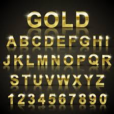 3d gold letters free vector 6 509 Free vector for