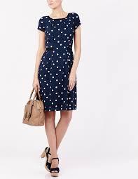 louisa james navy and white polka dot dress good morning britain