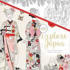 Kaiser Colour Explore Japan Adult Coloring Book