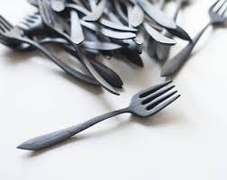 walnut fork wooden fork for eating wood eating fork hand