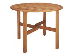 ZENO Solid Oak 2-4 Seat Round Folding Garden Table