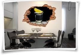 wand 3d wand aufkleber wand bild wand durchbruch alkohol tequila deko ideen glas schwarz gelb zitrone
