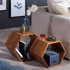 beistelltisch 2er set kas sheesham massivholz design wohnzimmertisch couchtisch set massiv designer satztisch wohnzimmer kleiner sofatisch holz