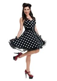 This Womens Black Polka Dot Pin Up Costume Is A Cute Retro Look Thats Sure To Turn Heads