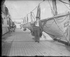 Rms Lusitania Model Sinking by The Class A Lifeboats Were Hung Over The Deck By Davits Strung