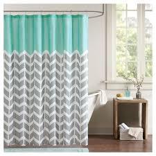 teal orange shower curtain Tar