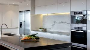 White Macaubas Granite Is Used For The Splashback And Benchtop In This Kitchen By Kitchens