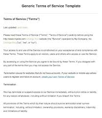 Terms Of Use Agreement Template Sample Service Free Website And Conditions E Agreements Contract