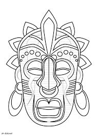 Coloriage Magique Masque Africain