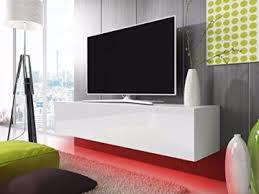 tv schrank lowboard hängeboard simple mit led rot weiß matt weiß hochglanz 140 cm