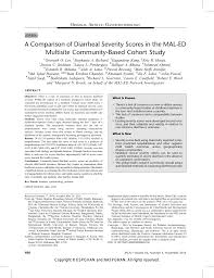 100 Jpgn A Comparison Of Diarrheal Severity Scores In The MALED